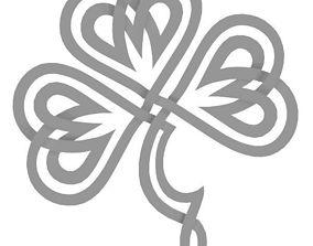 3D Celtic Shamrock