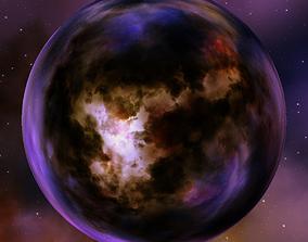 3D model Nebula Space Environment HDRI Map 002