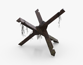 3D model Czech hedgehog Obstacle WWII