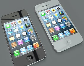 Iphone 4s Black White 3D model