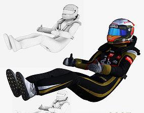 3D model Romain Grosjean 2015