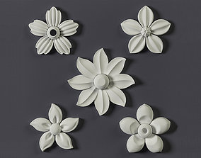 5 Floral Ornament brushes alphas and 3D models