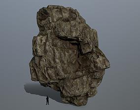 snowy rocks 3D asset low-poly