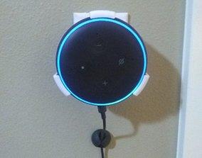 3D print model accessories Alexa Echo Dot Wall Holder