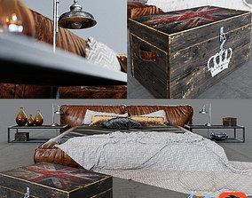Bed Set Loft 3D