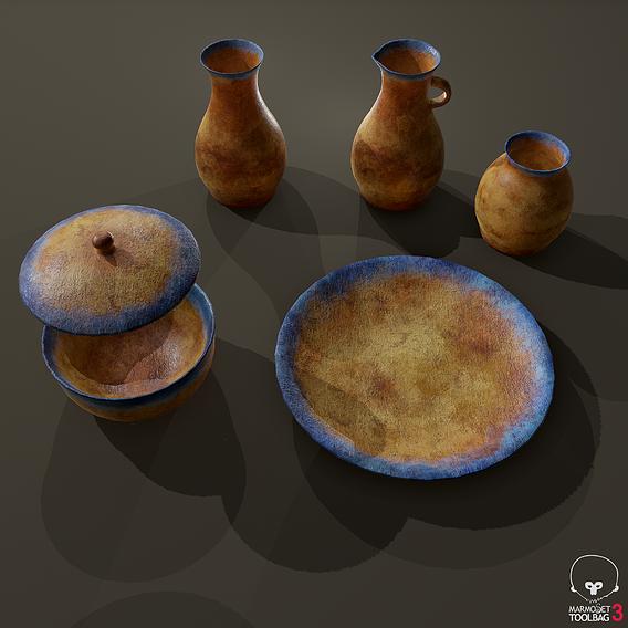 Terracotta Pottery Set