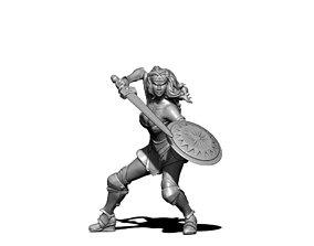 Wonder Woman - 35mm scale 3D print model