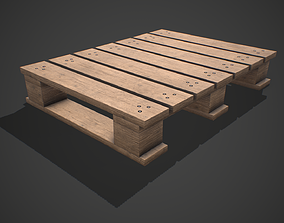 Low poly European Wood pallet 05 PBR Game 3D asset