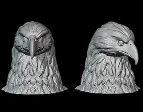 3D print model sculpture Bald eagle bust
