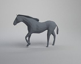 3D print model low poly horse