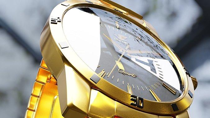 wrist-watch-3d-model-obj-3ds-fbx-stl-ble