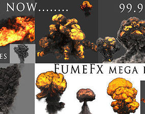 3D asset animated FumeFX Mega Pack