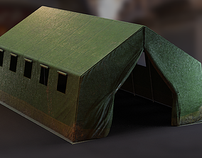Military Base Tent PBR 3D model