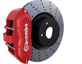3D model Sport Ventilated Brake System