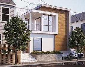 House Exterior Scene 001 3D