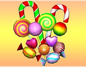 Sweet Candies Pack 3D asset