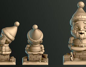 3D printable model christmas Santa Claus Trapped UP