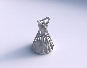 3D printable model Vase wide with branches streched top
