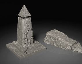 3D printable model Elvish Glyph Tower Ruins