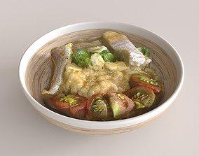 Quinoa with fish 3D