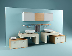 3D Double Washstand