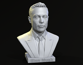 Elon Musk bust 3D printable model
