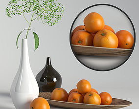 3D model Decorative set with oranges