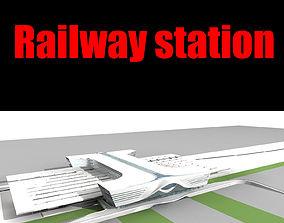 3D model moskovsky exterior Railway station