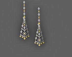 3D printable model jewelry lightweight Earrings