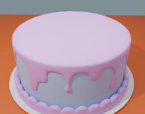 Cartoon cake 3D model