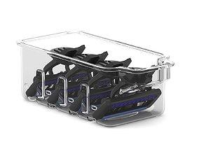 Quadruple Blade Cartridge Refills 3D model