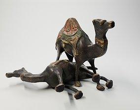 PBR Antique Brass Camel Figurine from Oman 3d
