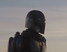 The Mandalorian Helmet - Screen Accurate - 1 Piece Model