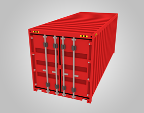 3D model Voxel Shipping Container 20ft