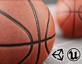 MG - Basket Ball - Clean Dirty - PBR Low-poly low-poly 3