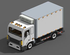 Voxel Refrigerator Truck 3D model