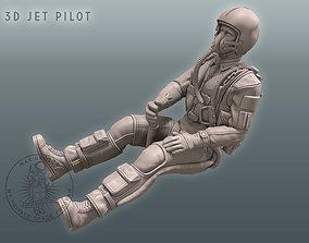 3D Jet Pilot figurines