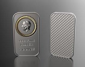 silver ounce 3D print model