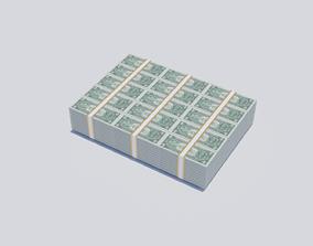 Dollar Bill Stack 3D asset