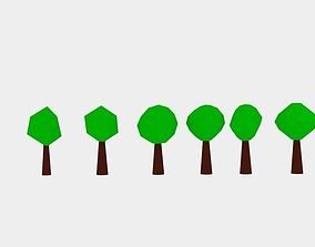 small Low Poly Tree 3D asset game-ready