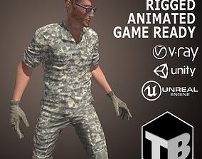 3D asset Male Soldier