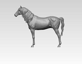 Horse mustang statue 3D print model