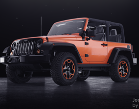 3D Jeep Wrangler Willis Wheeler 2014