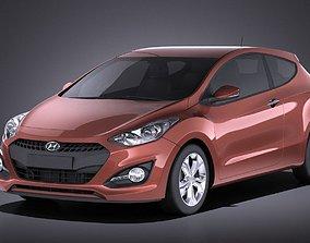Hyundai i30 3-door 2014 VRAY 3D