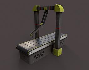 Production Line 3D model low-poly