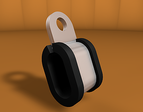 Steel clamp with rubber 3D model VR / AR ready