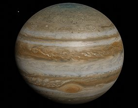 Photorealistic Accurate Jupiter System 14k 3D model