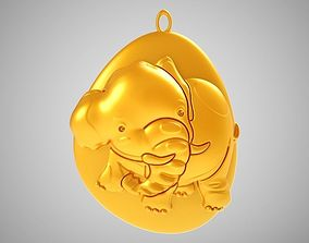 3D print model Rock Elephant Necklace