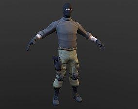 Soldier 3D asset animated