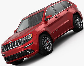Jeep Grand Cherokee SRT 2015 detailed interior 3D